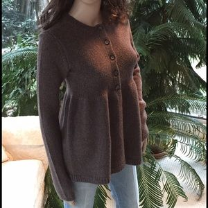 Vince babydoll sweater in brown, size M