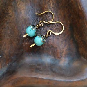 Jewelry - Artisan aquamarine gemstone earrings