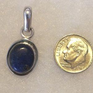 Vintage Blue Lapis Sterling Silver .925 Pendant