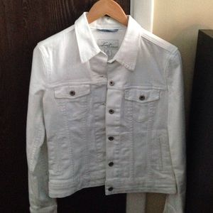 Levi S Jackets Coats Levi White Denim Jacket Size Small Poshmark