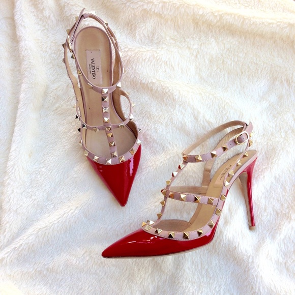30 off valentino shoes authentic valentino red rockstuds from andrea 39 s closet on poshmark. Black Bedroom Furniture Sets. Home Design Ideas