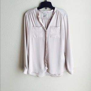 Button down silky top