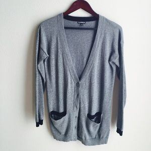 Express Grey Cardigan with pockets
