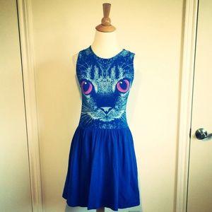 Dresses & Skirts - 🎉HP🎉Royal Blue Kitty Skater Dress