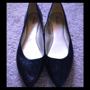 Black ballet flats by Xhileration NWOT