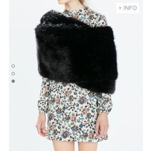 Zara wraparound faux fur stole