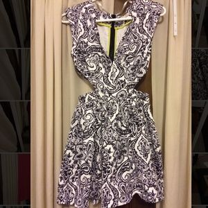 Paisley Print Cut Out Dress