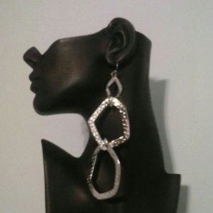 Jewelry - Silver Hammered Earrings