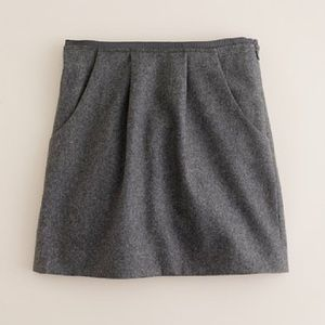 J. Crew Felted Wool Mini Skirt