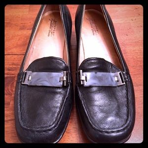 Rockport signature series black leather shoes