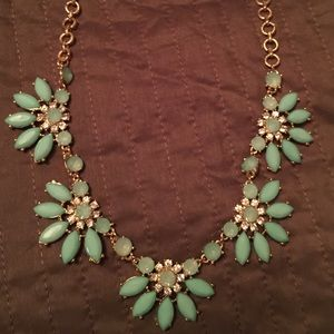 Gorgeous turquoise colored statement necklace
