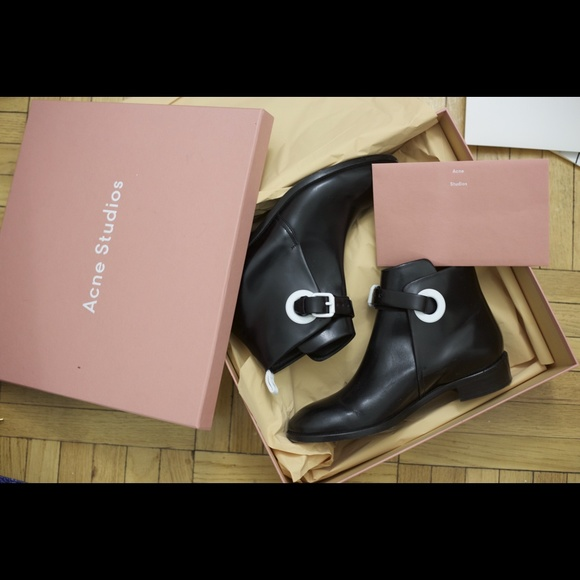 Acne Studios Allea Leather Ankle Boots comfortable for sale pictures for sale free shipping order gBp1my