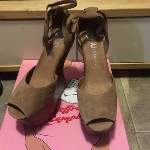 "Brand new JC ""STR8UP"" size 7.5 color: nude suede"