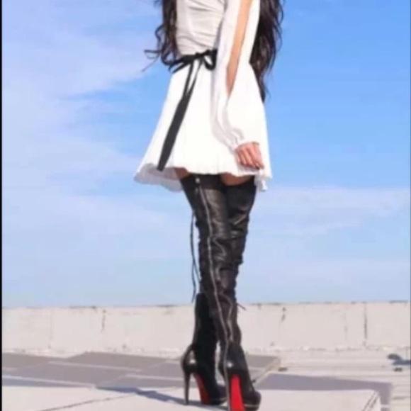christian louboutin overknee boots