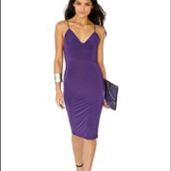 7abb7226236a ASOS Dresses   Skirts - Slinky strappy purple midi dress