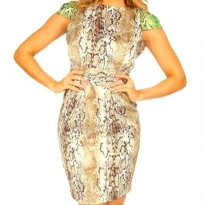 Naven Dresses & Skirts - NAVEN snakeskin cap sleeve dress