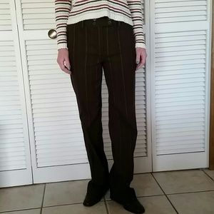 Pin striped chocolate brown pants