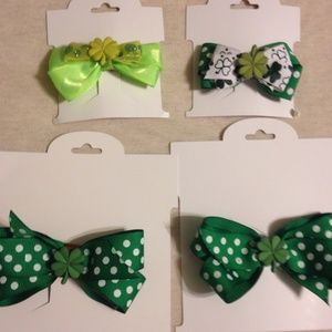 Accessories - St. Patrick's bows. Bottom two only