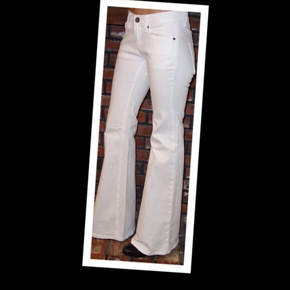 49% off London jeans Pants - White flare leg jeans from Lou's ...