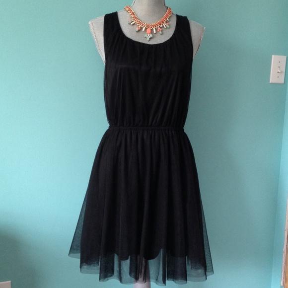 H&M Dresses   Black Tulle Tutu Party Dress   Poshmark
