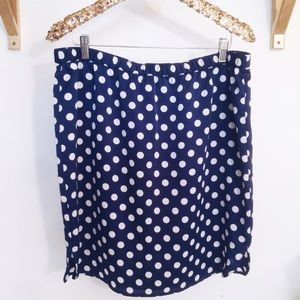 Ann Taylor Dresses & Skirts - Navy & White Polka Dot Pencil Skirt