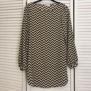 Everly chevron print dress.