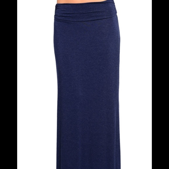 Navy Blue Maxi skirt with slit Small New S from ! liz's closet on ...