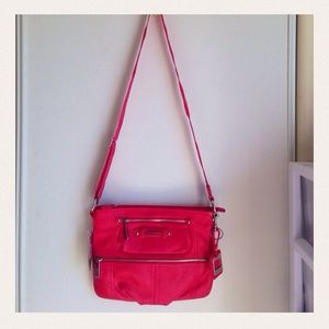 Tyler Rodan Handbags - Very soft leather hot pink crossbody