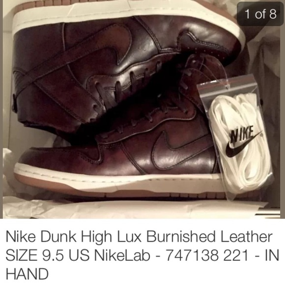 brand new 34d32 1371b Nike Dunk High Lux Burnished Leather
