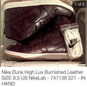 Nike Dunk High Lux Burnished Leather