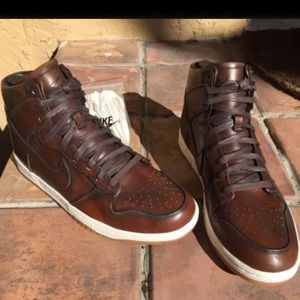 sale retailer c2fbf 7eaef Nike Shoes - Nike Dunk High Lux Burnished Leather