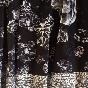 Prabal Gurung Skirts - Prabal Gurung Target Black & White Floral Skirt