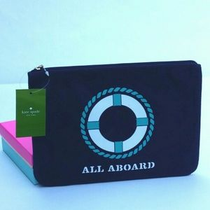 Kate Spade All Aboard Zip Top Gia Bag Pouch