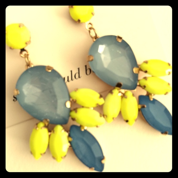 SOLE SOCIETY NEON AND BLUE EARRINGS
