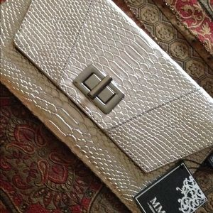 Pewter Envelope Clutch by MMS