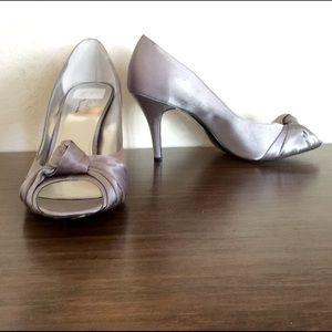 Silver Nina pumps high heels