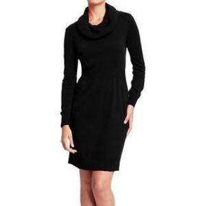 Dresses & Skirts - Black cowl neck sweater dress