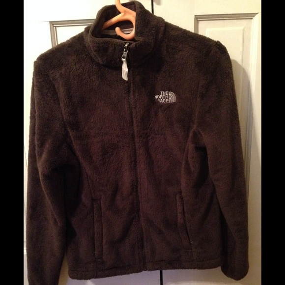 85c9a16f4 Womens Brown Fuzzy North Face Jacket