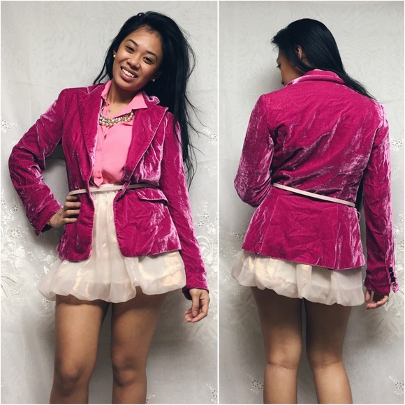 56% off Etcetera Jackets &amp Blazers - Etcetera • 2 | pink velvet