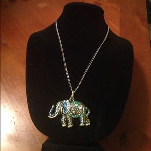 "Elephant Necklace 24""Long New Sweater necklace"