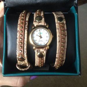 La Mer snakeskin watch wrap