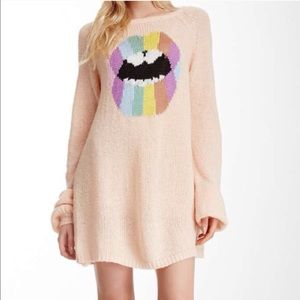 Wildfox Sweaters - Psychedelic Lips Sweater by WILDFOX