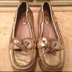 Sperry Top-Sider Shoes - Sperry top sider gold shoes. Good condition.