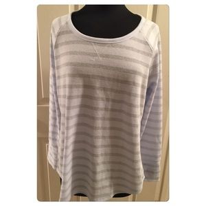 Tops - Blue & Silver Top