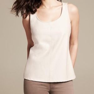 Faux Leather Beige Top