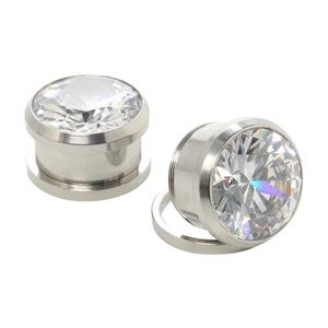 Hot Topic Jewelry - Hot Topic bling screw back plugs