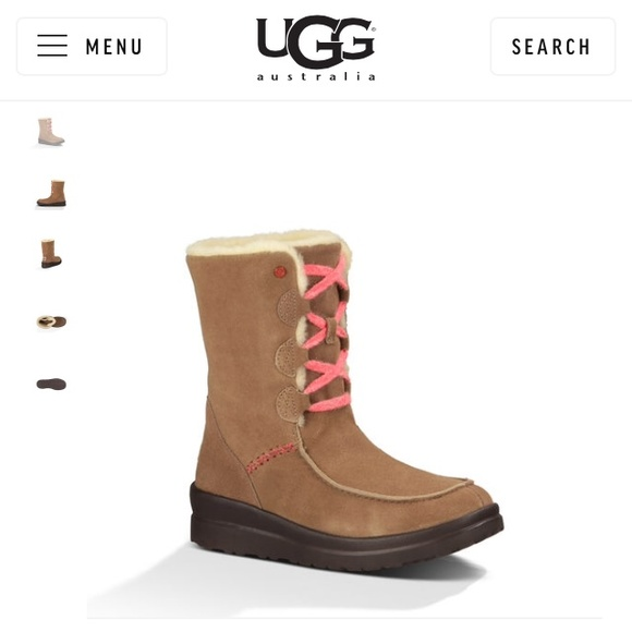 Ugg Shoes Holdauthentic I Love Lacy Brown Lace Up Boot