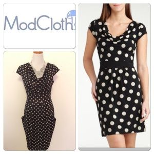NEW Modcloth Polka Dots Dress