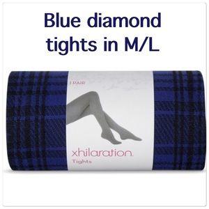 New blue diamond tights in M/L