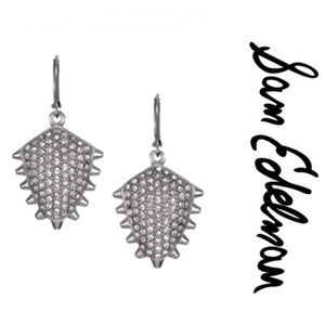 Sam Edelman Silver Crystal Earrings